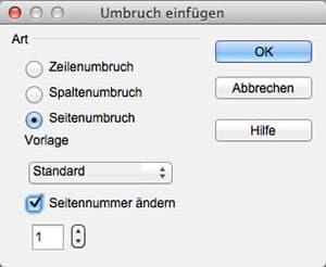 5. OpenOffice Seitenumbruch