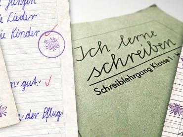 Bienchen, Schreibheft, Bienchenstempel, DDR, Fleißkärtchen, Grundschule, ostdeutsch