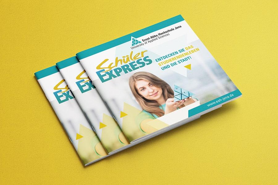 Broschüre, Folder, Layout, Design, Print, Druck, Schüler, Schülerinnen, Information, studieren, Studium, FH, Hochschule, EAH, Jena, Thüringen