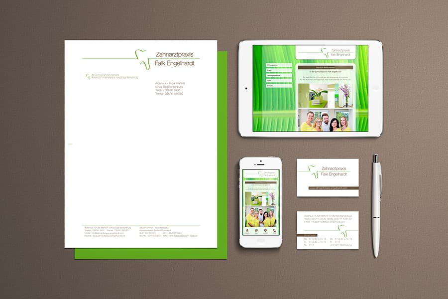 Corporate Design, Webdesign, HTML, Grafikdesign, Logodesign, Printdesign, Druckdaten, Zahnarzt, Bad Blankenburg, Thüringen