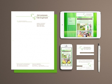 Corporate Design, Printdesign, Webdesign, Zahnarzt, Bad Blankenburg, Thüringen