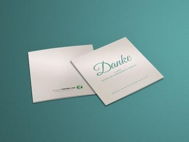 Dankeskarte, Karte, Perlmutt, Rheuma-Liga, Printdesign, Druck, Uhlstädt-Kirchhasel, Rudolstadt, Thüringen