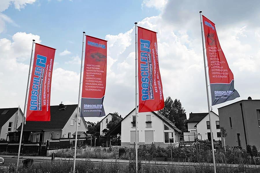 Fahne, Stoff, Textil, Grafikdesign, Werbetechnik, Printdesign, Druck, Technik, Werkstattausrüstung, Auto, 2019, Zöllnitz, Jena, Thüringen