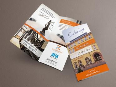 Flyer, Einladung, Vernissage, Eröffnung, Kunst, Printdesign, Druck, Jena, Thüringen