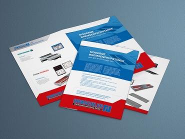 Flyer, Folder, Broschüre, Printdesign, Druck, Technik, Werkstattausrüstung, Jena, Thüringen