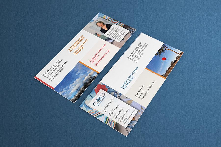 Flyer, Postkarte, Grafikdesign, Trauer, Kunst, Printdesign, Druck, Jena, Thüringen