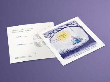 Grafikdesign, Flyer, Print, Druck, Illustration, Sternenkinder, Selbsthilfegruppe, Saalfeld, Thüringen