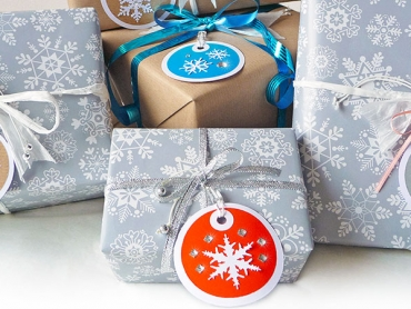 Geschenkanhänger, Geschenk, Anhänger, gift tag, Papier, DIY, Schneeflocke, Weihnachten