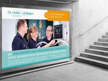 Großflächenplakat, Plakat, Printdesign, Druck, Außenwerbung, Zahnarzt, Zahnarztpraxis, Arzberg, Bayern