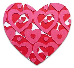 diy karte mit papier herz zum valentinstag patrizia kramer design. Black Bedroom Furniture Sets. Home Design Ideas
