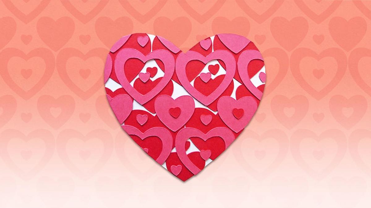 Karte, Herz, Papier, DIY, card, heart, Valentine's Day, Valentinstag