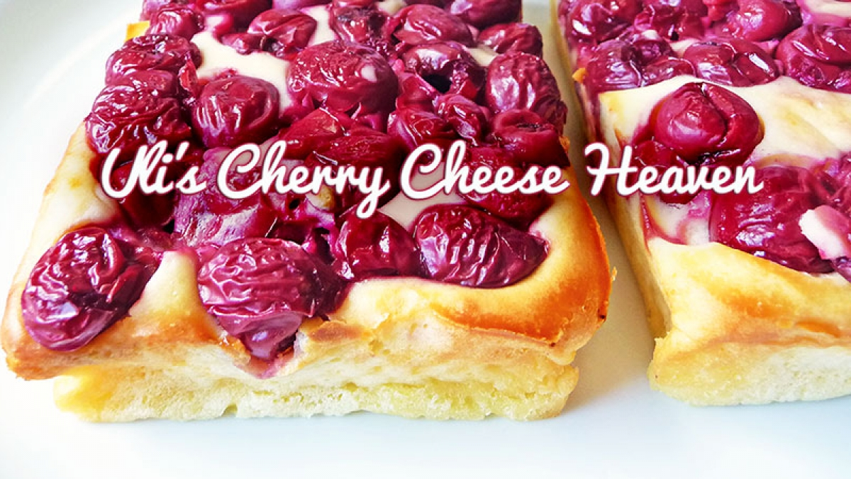Kuchen, backen, Cheesecake, Käsekuchen, Kirschen, Quark, Rezept, Uli's Cherry Cheese Heaven