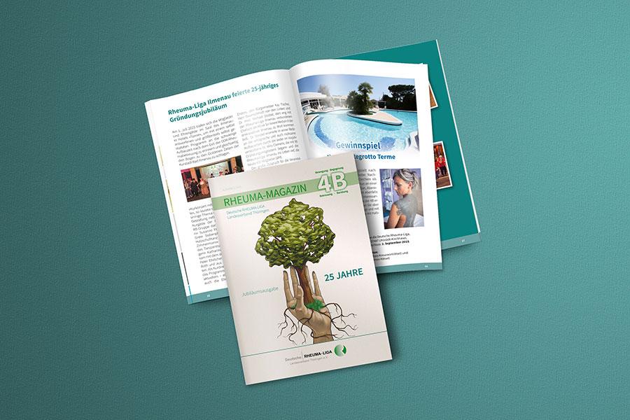 Magazin, Zeitschrift, Rheuma-Liga, Printdesign, Druck, Uhlstädt-Kirchhasel, Rudolstadt, Thüringen