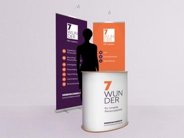 Rollup, Banner, Grafikdesign, Werbetechnik, Printdesign, Druck, HR, Personal, Mitarbeiter, Unternehmen, Messestand, Theke, Jena, Thüringen