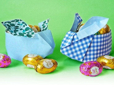 Origami, Hase, Osterhase, Ostern, Papier, DIY, Easter, Bunny
