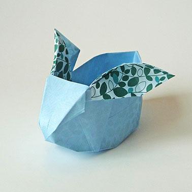 diy origami osterhase patrizia kramer design. Black Bedroom Furniture Sets. Home Design Ideas