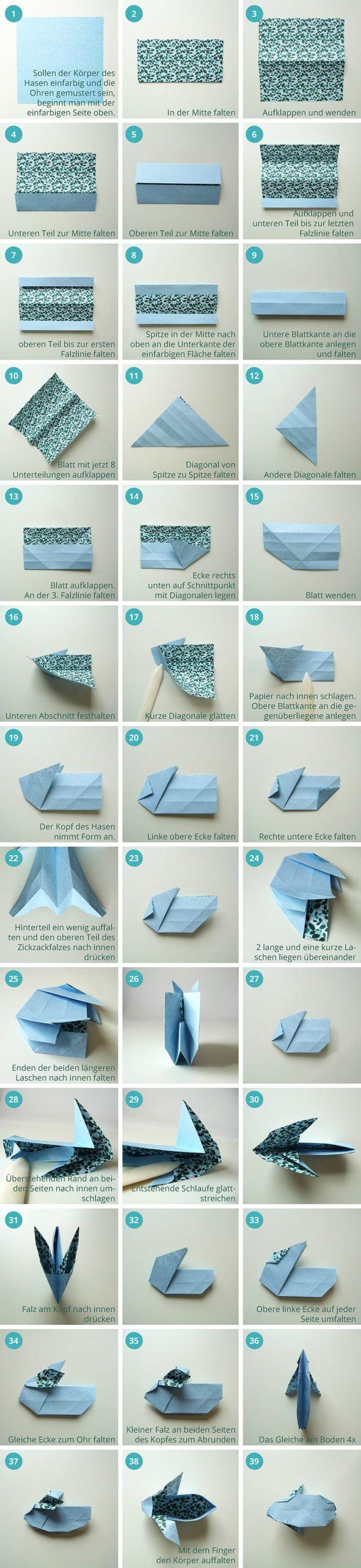 Origami Osterhase Tutorial