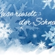 Postkarte, postcard, Winter, Schnee, Schneeflocke, snowflake, Aquarell, Photoshop, Etsy
