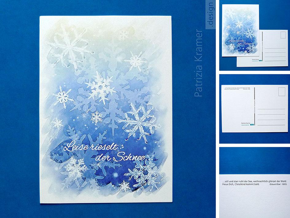 Postkarte »Schneegestöber« bei DaWanda