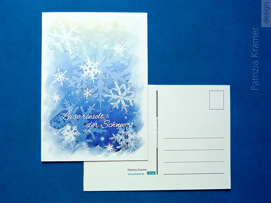 Winter-Postkarte »Schneegestöber«