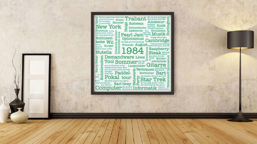 Typobild, Typographie, typography, Wörter, Buchstaben, DIY, Typografisches Bild, Wortwolke