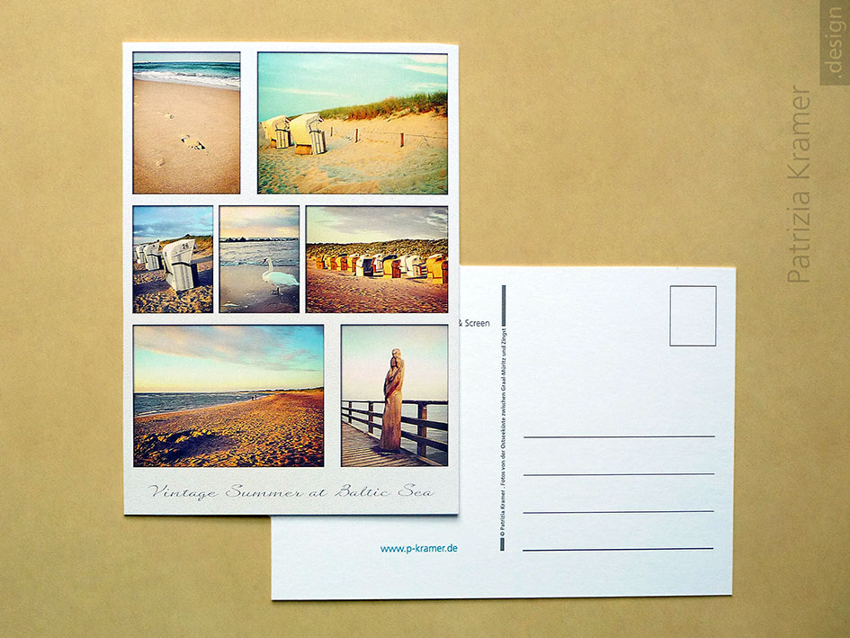Postkarte »Vintage Summer at Baltic Sea«