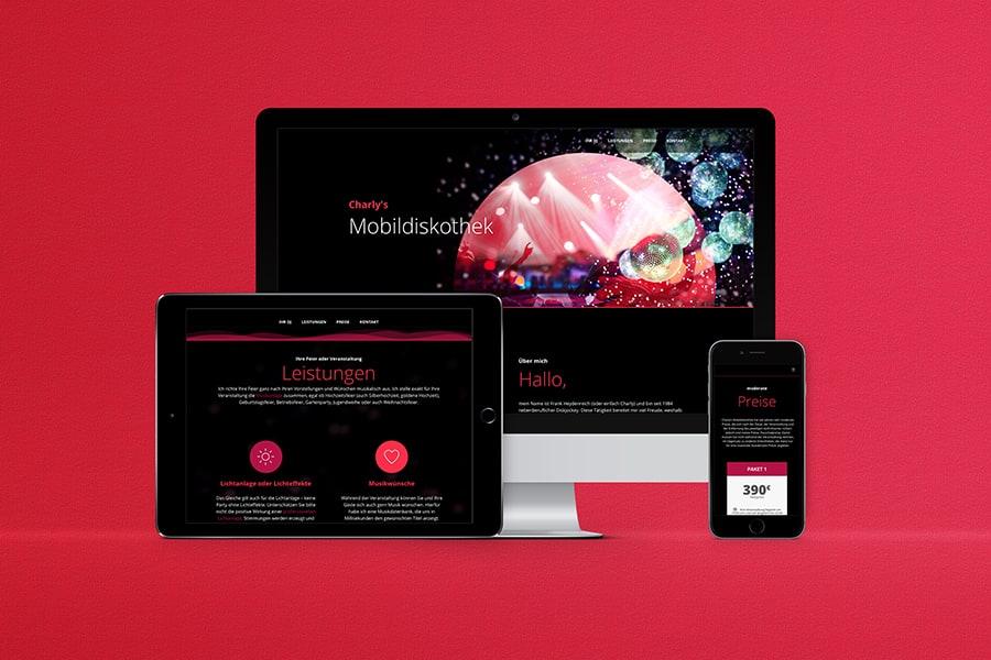 responsive Webdesign, Wordpress, Musik, hören, spielen, DJ, Disco, tanzen, Party, Musiker, Jena, Thüringen, Elementor