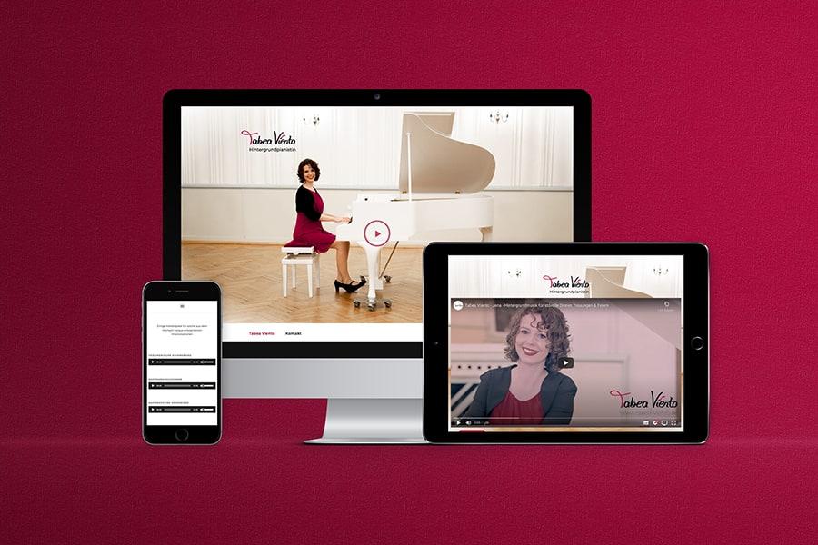 responsive Webdesign, Wordpress, Video, Hörproben, Musik, hören, spielen, Klavier, Musikerin, Künstlerin, Sängerin, Pianistin, Jena, Thüringen