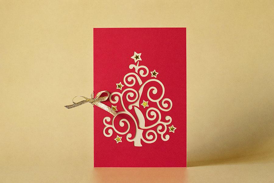 Weihnachtskarten 2015 Patrizia Kramer .design Papier Karte Weihnachten gold Glanz
